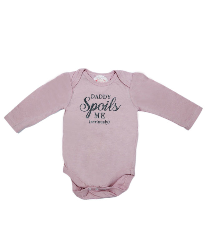daddy spoils me baby romper