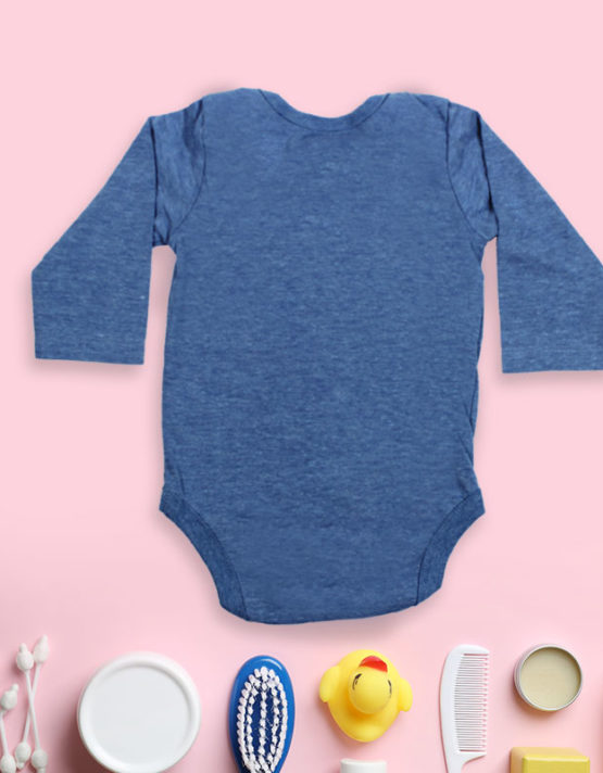 Big Trouble in little body blue baby rompers