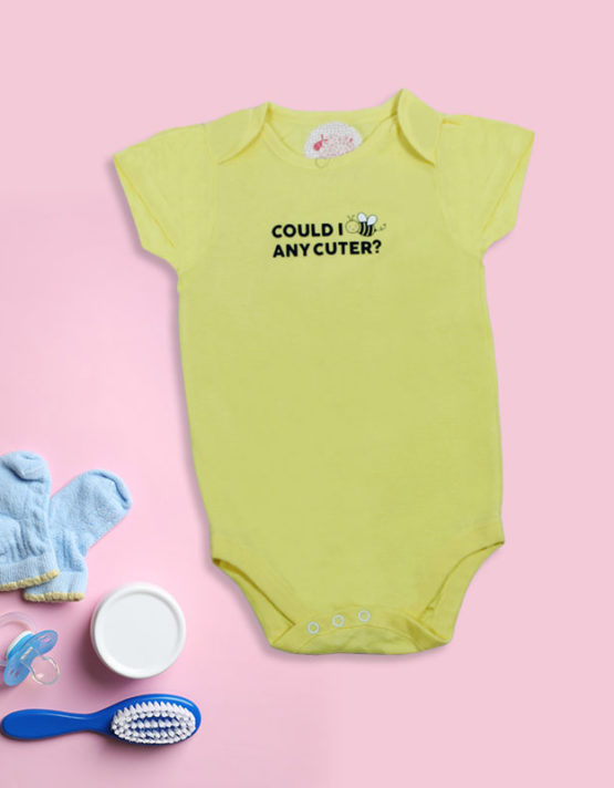 Could I B any cuter Yellow baby Rompers