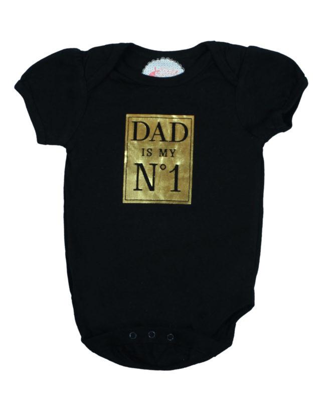Dad is No.1 Black Baby Rompers