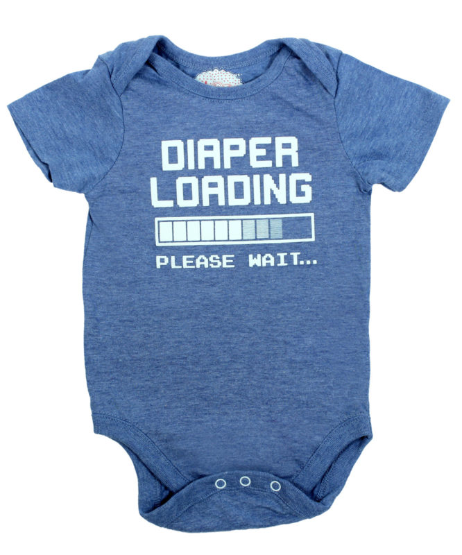 Daiper Loading Blue Baby Rompers