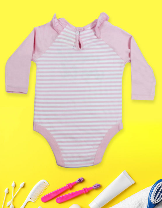 Hello World Pink Baby Rompers