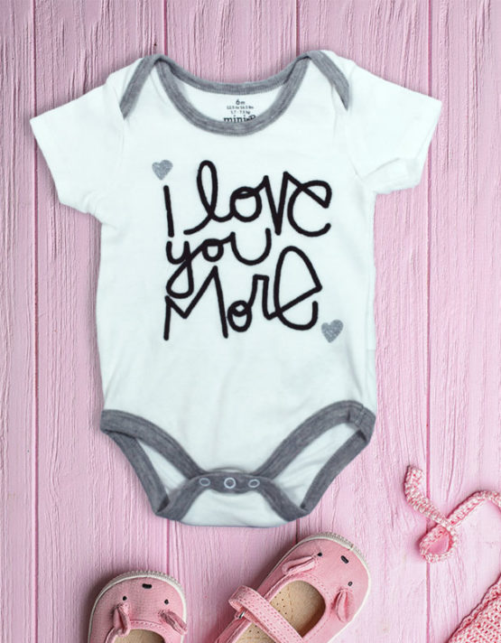 I Love you more white Baby rompers