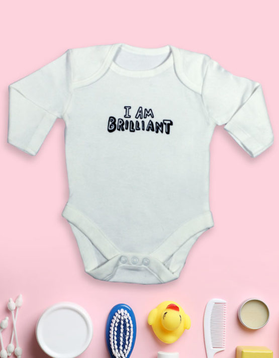 I'm Brilliant White Baby Rompers