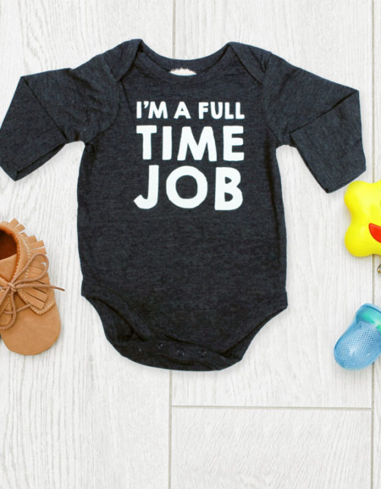 I'm a full time job Black Baby Rompers