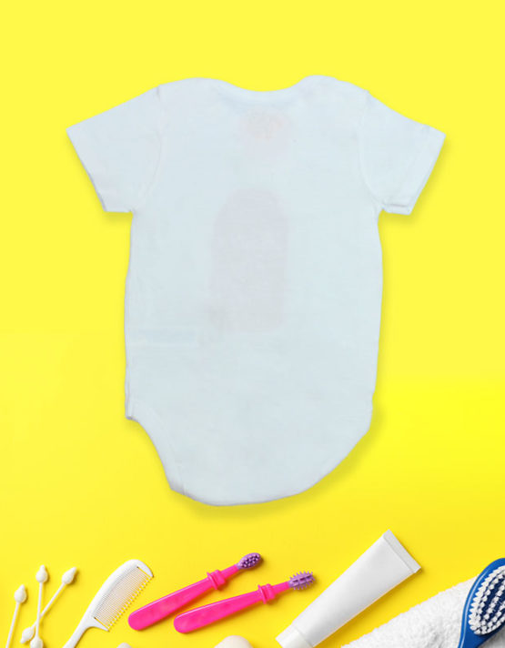 Mister Hot Stuff White Baby Rompers