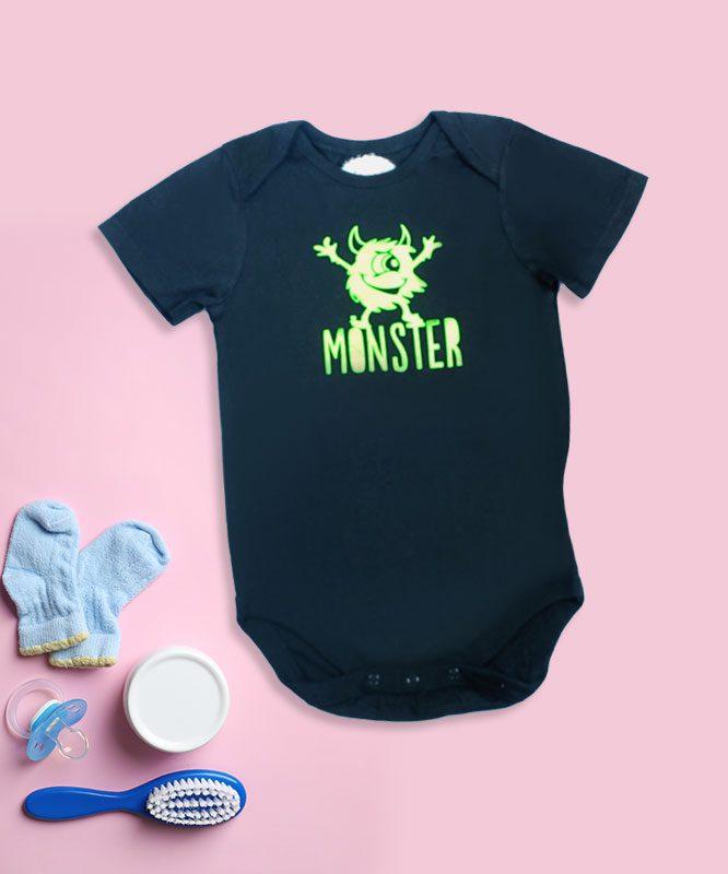 Monster Black Baby Rompers