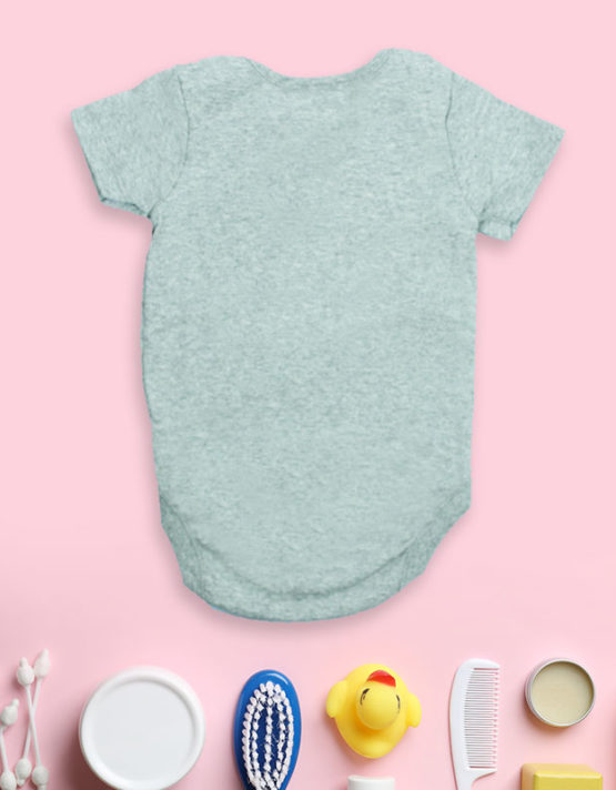 No One Sleep Until I Say So Grey Baby Rompers