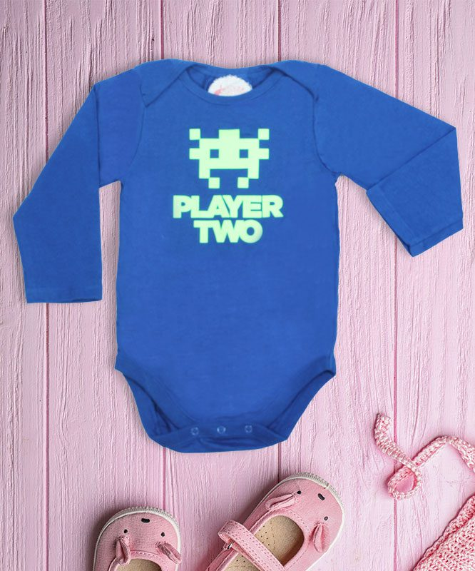 Player two Blue Baby Rompers