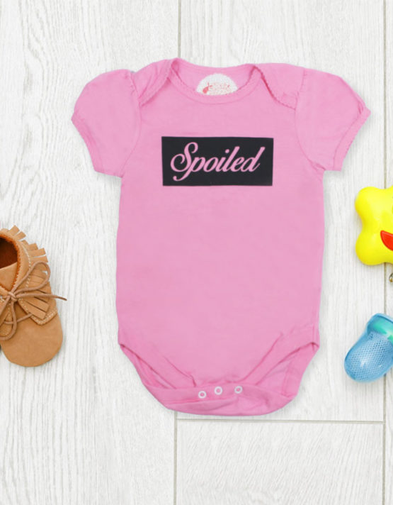 Spoiled Pink Baby Rompers