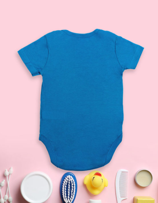 The Cool Kid Just Showed Up Blue Baby Rompers
