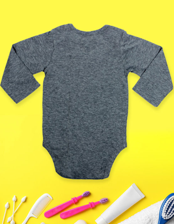 This is my game shirt Grey Baby Rompers