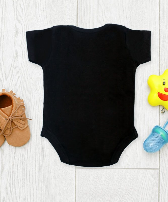 Up all night Black Baby Rompers