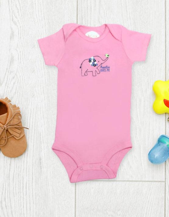 Aunties Love Me Pink Baby Rompers