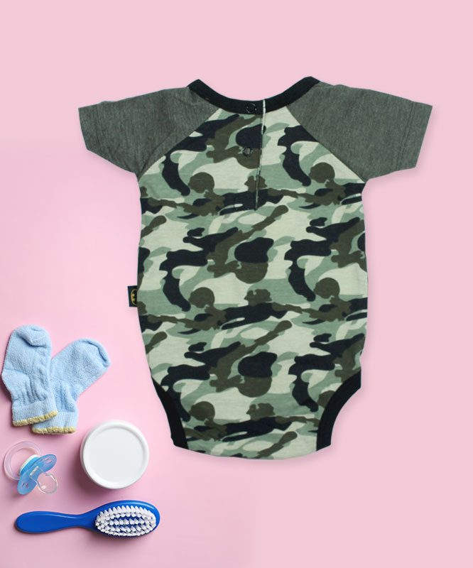 Bat Man Camouflage Baby Rompers