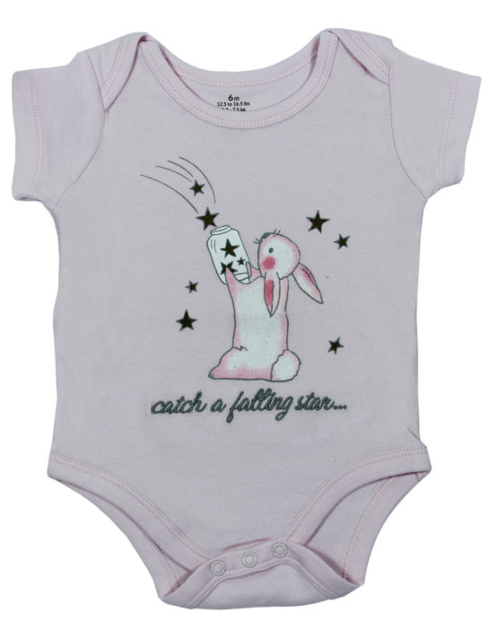 Catch a Falling Star Light Blue Baby Rompers