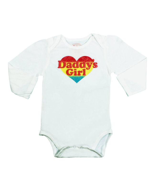 Daddy's Girl White Baby Rompers