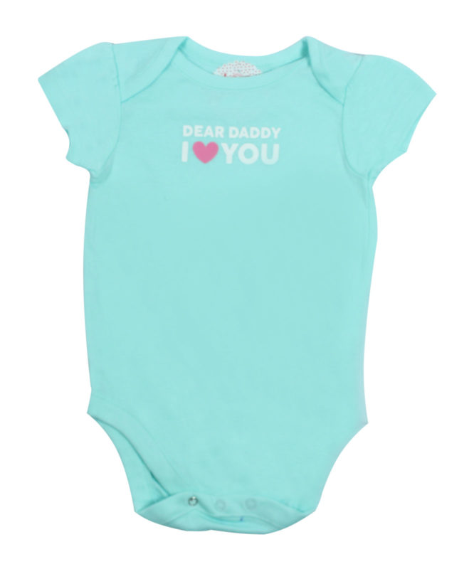 Dear Parents I love you Cyan Rompers