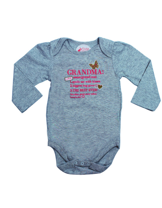Grandma Grey baby Rompers