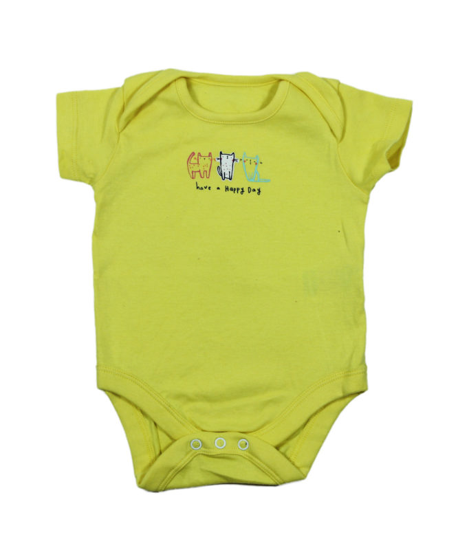 Have a Happy Day Yellow Baby Rompers