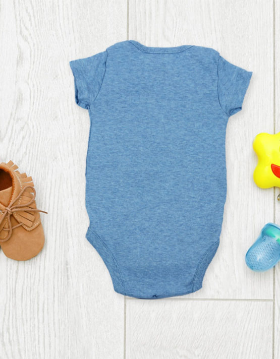 I love you to the moon and back Blue Baby Rompers
