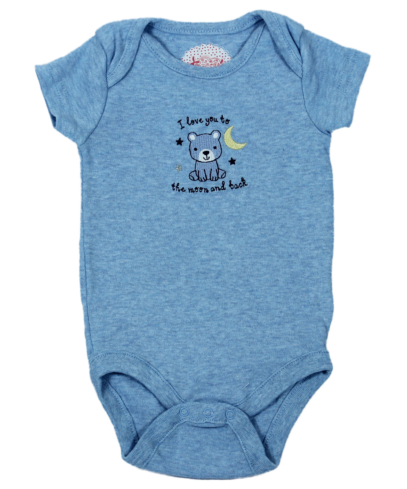 I Love You To The Moon And Back Blue Baby Rompers Giraffy In