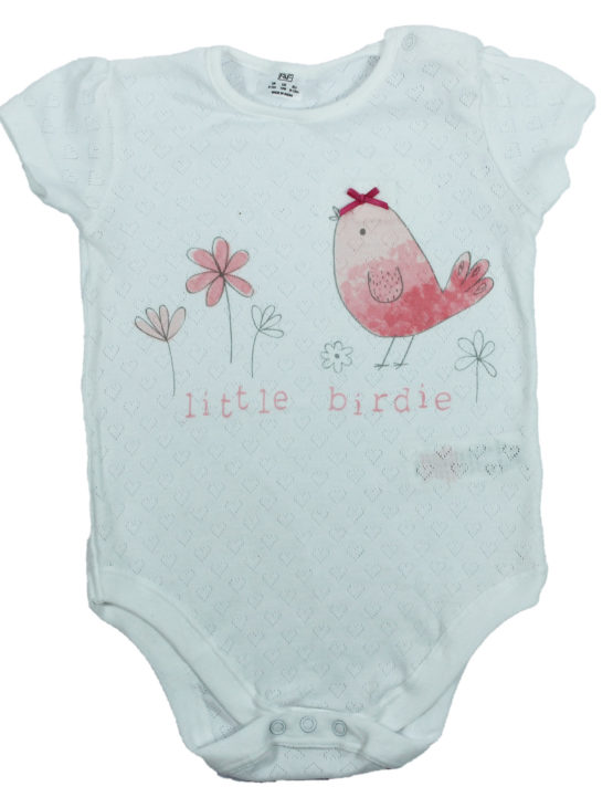 Little Birdie white baby Rompers