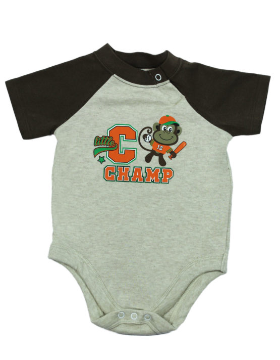 Little Champs Grey and Brown Baby Rompers