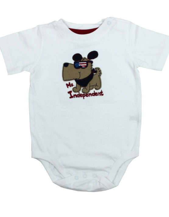 Mr Indipendent White Baby Rompers