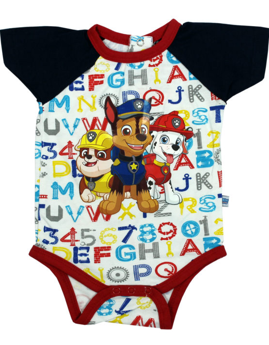 Paw Patrol White and Black Baby Rompers
