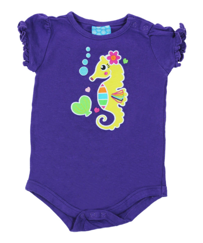 Sea Horse on Blue Baby Rompers