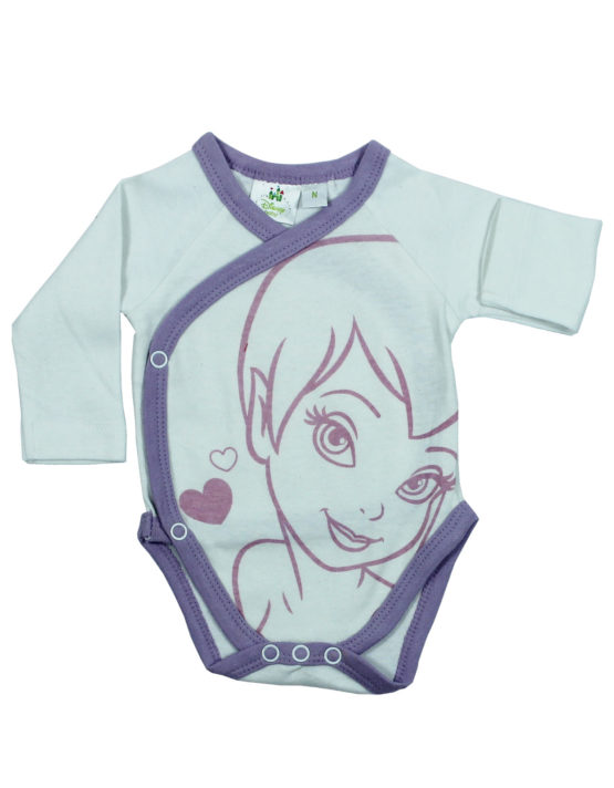 Tinkerbell on White Baby Rompers