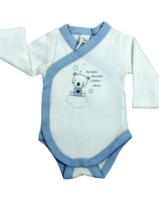 Twinkle Twinkle Little Star Bear on Cloud White Baby Rompers