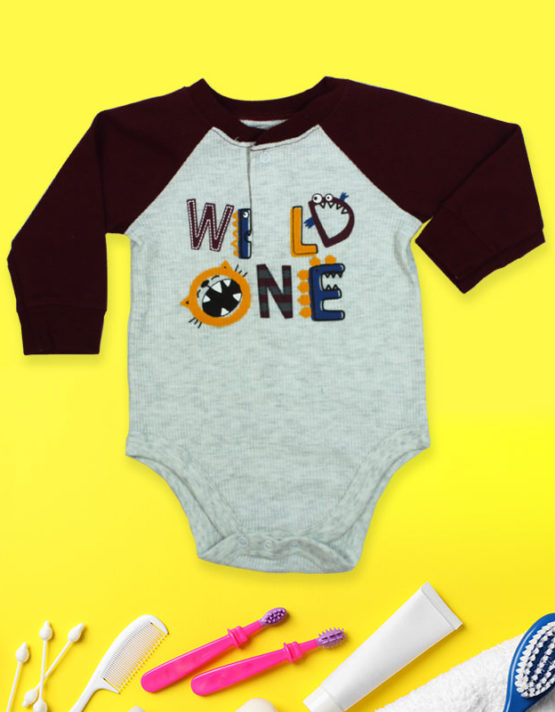 Wild One White and Black baby Rompers