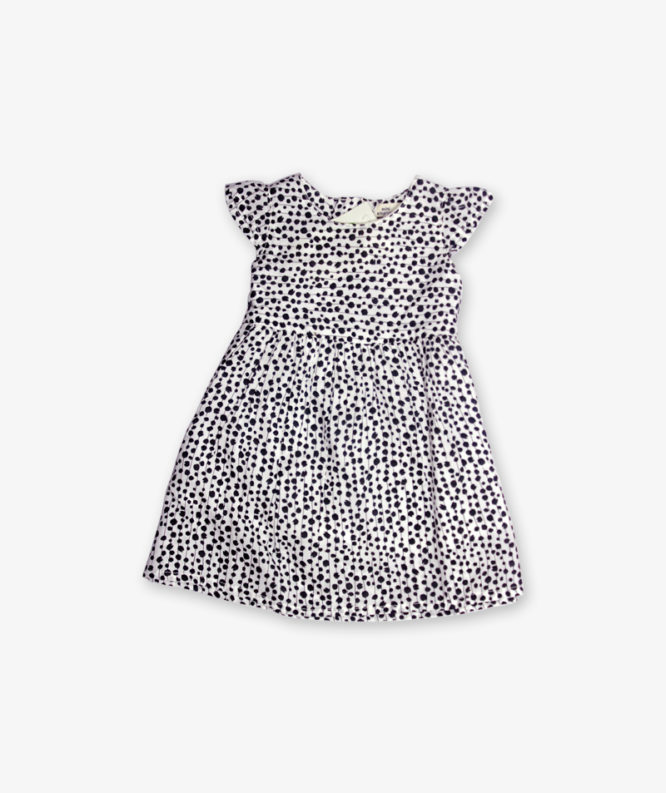 Black and white doted frock