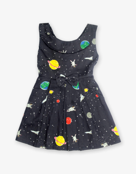Black universe printed Frock