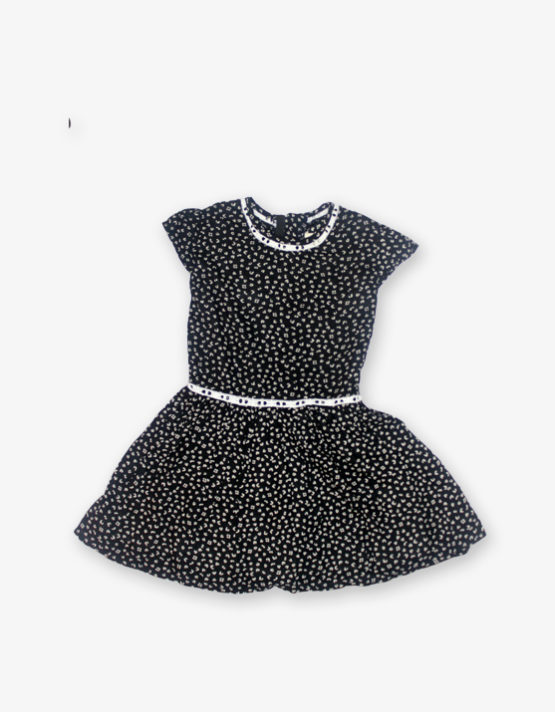 Black & white doted frock