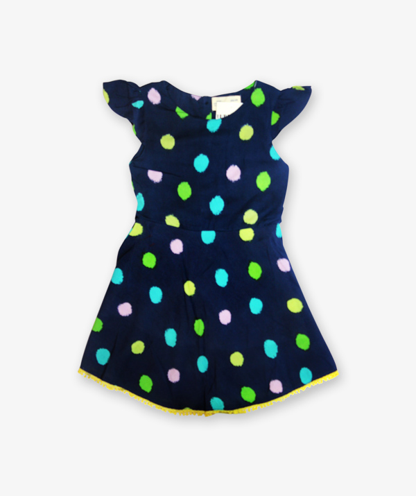 Blue doted frock
