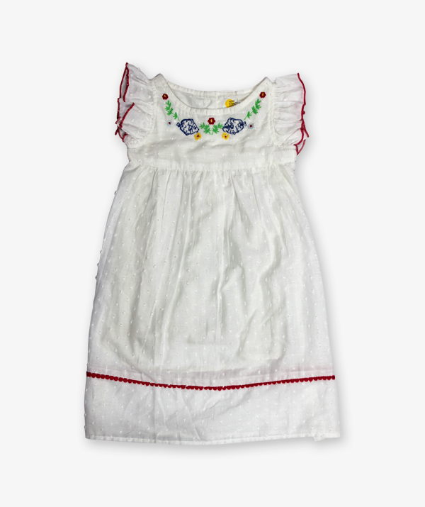 White embroidery Frock