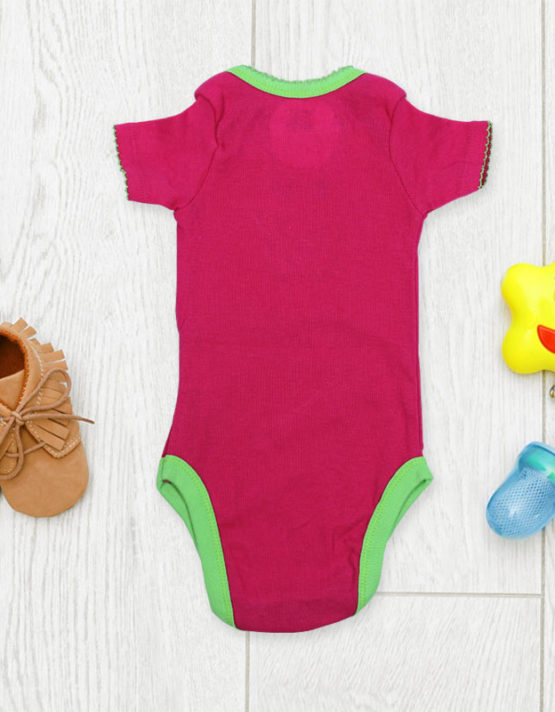 Cute froggy on hot pink rompers