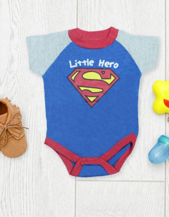 little hero superman romper