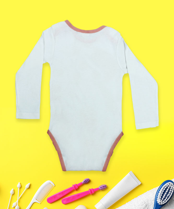 Mickey on white rompers