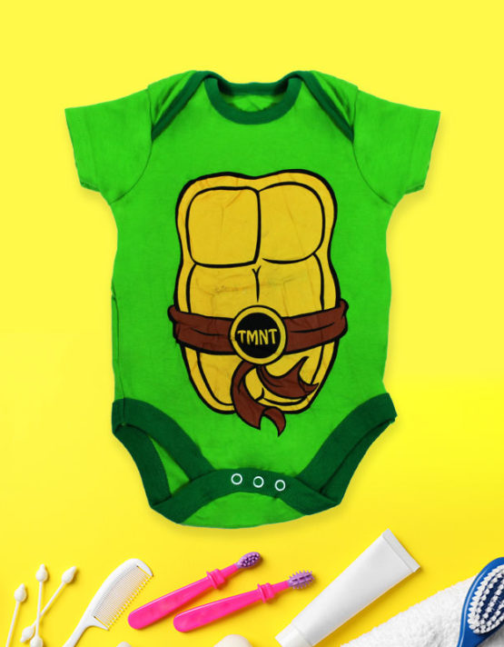 Mummy's tiny ninja green rompers