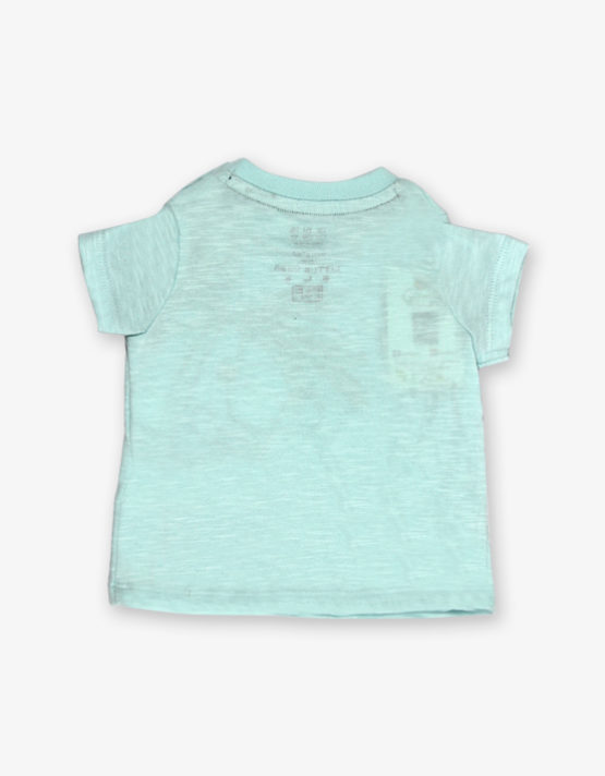 Aqua green monkey printed tshirt
