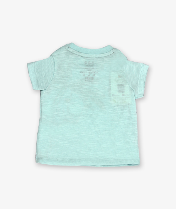 Aqua green monkey printed tshirt