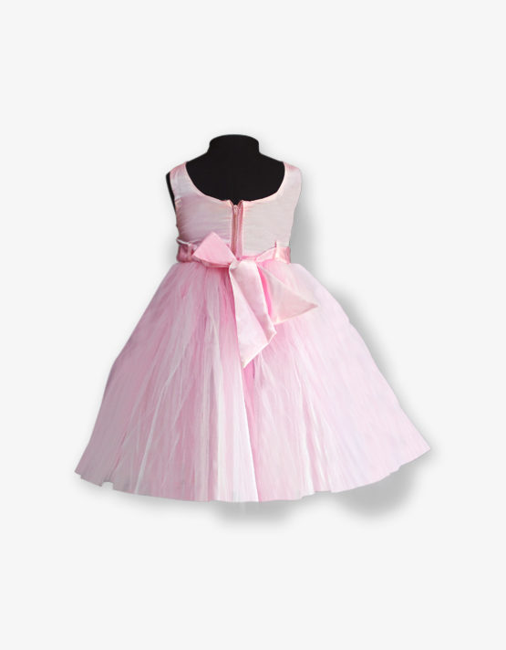 Baby Pink Party wear Gown_med_back