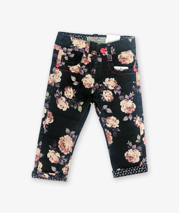 Black Floral Pant