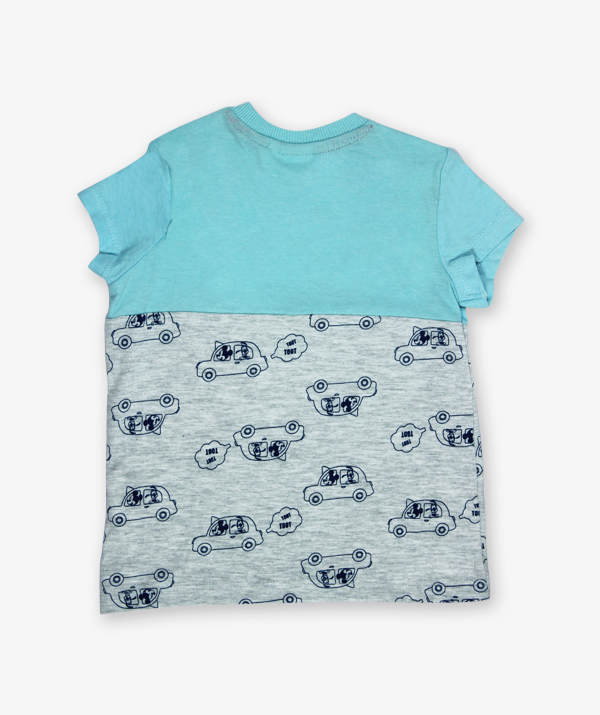 Blue Micky Mouse printed Tshirt_600_back