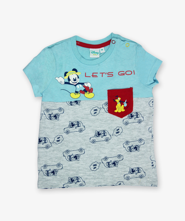 Blue Micky Mouse printed Tshirt_600_front