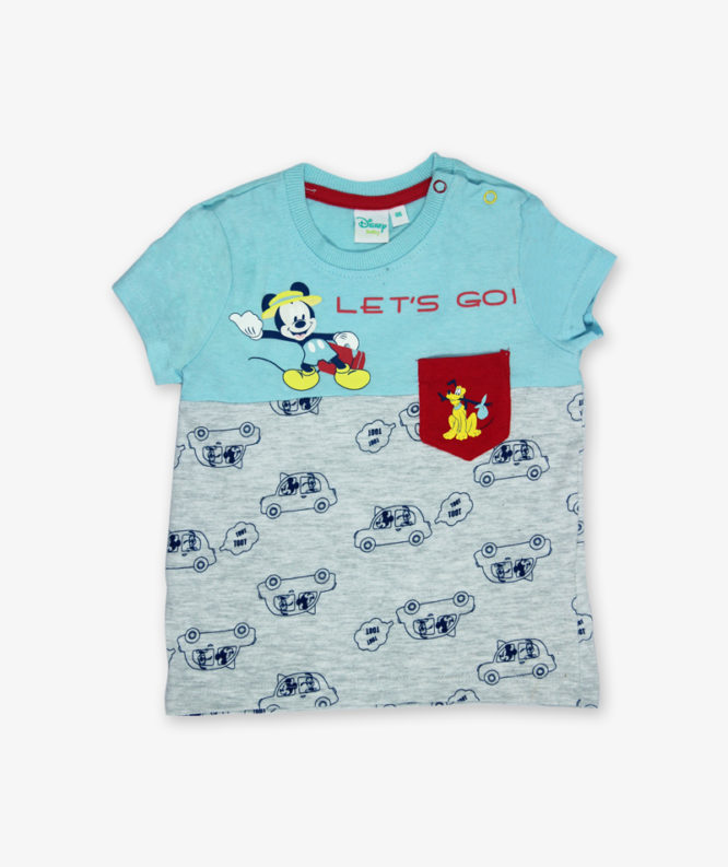 Blue Micky Mouse printed Tshirt_lg_front